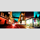 Frank Titze, Ulm/Germany - No. 1321 : Ulm Center - Entering Night II - 960x408 Pixel - 611 kB