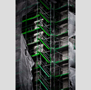 Frank Titze, Ulm/Germany - No. 2629 : Y 2014-12 - Green Stairs - 427x640 Pixel - 327 kB