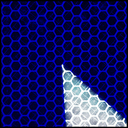 Frank Titze, Ulm/Germany - No. 3068 : Square 1:1 II - Blue on White Detail - 640x640 Pixel - 526 kB