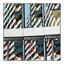 Frank Titze, Ulm/Germany - No. 3625 : Square 1:1 III - Mirroring Donau Center I - 640x640 Pixel - 374 kB