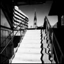 Frank Titze, Ulm/Germany - No. 3789 : Square 1:1 III - Stair And Church - 640x640 Pixel - 202 kB