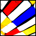 Frank Titze, Ulm/Germany - No. 3939 : Y 2016-03 - Red Blue Yellow on White I - 640x640 Pixel - 186 kB