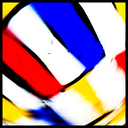 Frank Titze, Ulm/Germany - No. 3940 : Y 2016-03 - Red Blue Yellow on White II - 640x640 Pixel - 196 kB