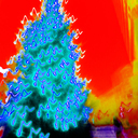 Frank Titze, Ulm/Germany - No. 4022 : Square 1:1 III - Xmas Tree Red I - 640x640 Pixel - 586 kB