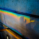 Frank Titze, Ulm/Germany - No. 4283 : Square 1:1 III - Rainbow on Concrete II - 640x640 Pixel - 478 kB