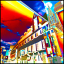 Frank Titze, Ulm/Germany - No. 4469 : Ulm Center - Reflection and Transmission - 640x640 Pixel - 715 kB