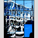 Frank Titze, Ulm/Germany - No. 4849 : Rect 5:4 I - Blue Refection III - 514x640 Pixel - 467 kB