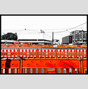Frank Titze, Ulm/Germany - No. 5884 : Ulm Center - Orange Barrier II - ImageWidth : --- xImageHeight : ---  Pixel - 583 kB