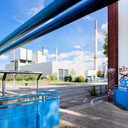 Frank Titze, Ulm/Germany - No. 8454 : Ulm West - Blue Structures IV - ImageWidth : --- xImageHeight : ---  Pixel - 496 kB
