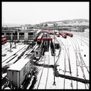 Frank Titze, Ulm/Germany - No. 904 : Ulm West - Red Trains II - 640x640 Pixel - 172 kB