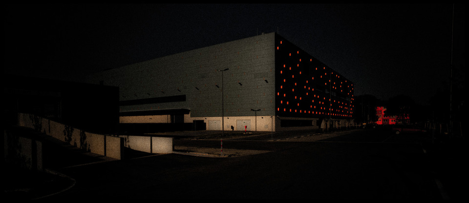 Frank Titze, Ulm/Germany - No. 623 : Places - Orange Wall - 960x416 Pixel - 77 kB