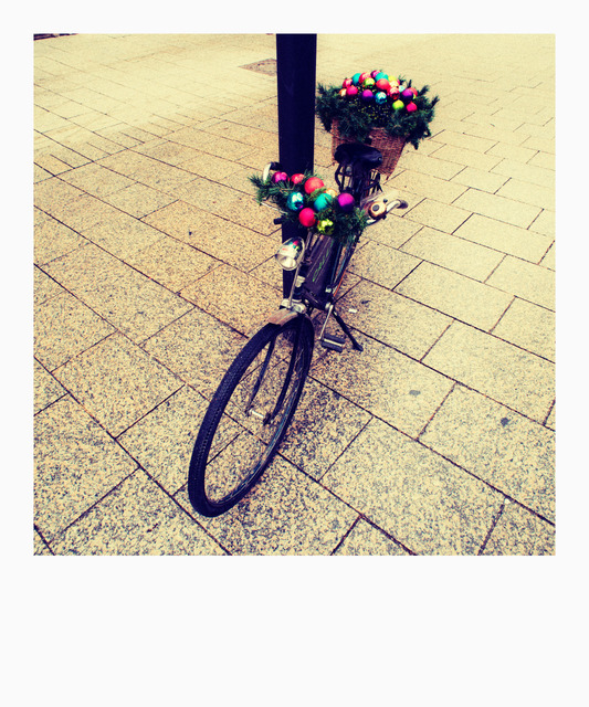 Frank Titze, Ulm/Germany - No. 844 : Polaroids - Cristmas Bike - 533x640 Pixel - 198 kB