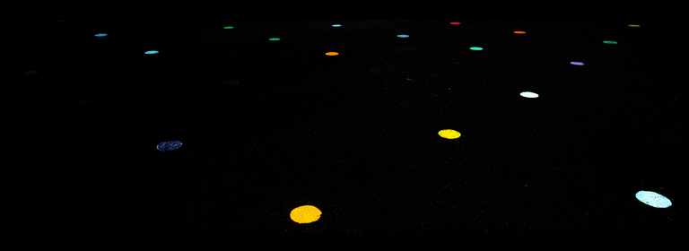 Frank Titze, Ulm/Germany - No. 8837 : .new. - Colored Dots on Black - ImageWidth : --- xImageHeight : ---  Pixel - 145 kB